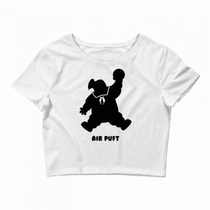 Stay Puft Air Puft Crop Top Designed By Shadowart