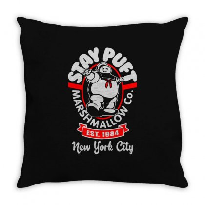 Stay Puft Marshmallow Throw Pillow Designed By Shadowart