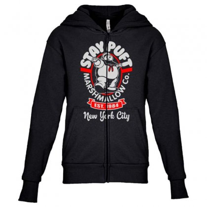 Stay Puft Marshmallow Youth Zipper Hoodie Designed By Shadowart