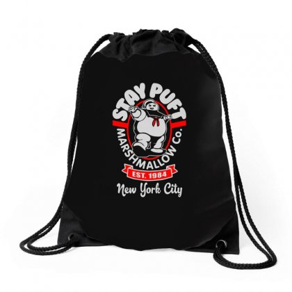 Stay Puft Marshmallow Drawstring Bags Designed By Shadowart