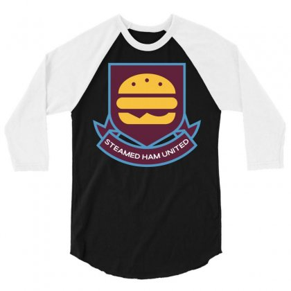 Steamed Ham United 3/4 Sleeve Shirt Designed By Shadowart