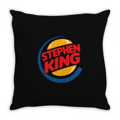 Stephen King 1 Throw Pillow Designed By Shadowart