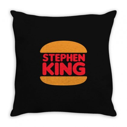 Stephen King Throw Pillow Designed By Shadowart