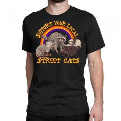 Street Cats Classic T-shirt Designed By Shadowart