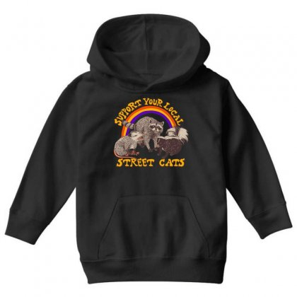Street Cats Youth Hoodie Designed By Shadowart