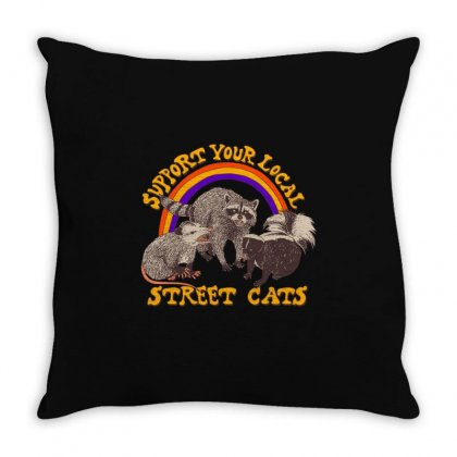 Street Cats Throw Pillow Designed By Shadowart