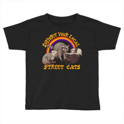 Street Cats Toddler T-shirt Designed By Shadowart