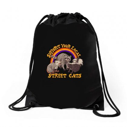 Street Cats Drawstring Bags Designed By Shadowart