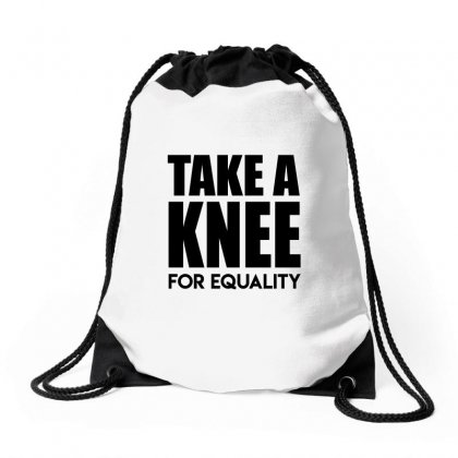 Take A Knee For Equality 1 Drawstring Bags Designed By Shadowart