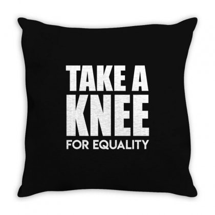 Take A Knee For Equality Throw Pillow Designed By Shadowart