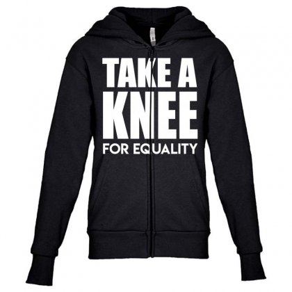 Take A Knee For Equality Youth Zipper Hoodie Designed By Shadowart
