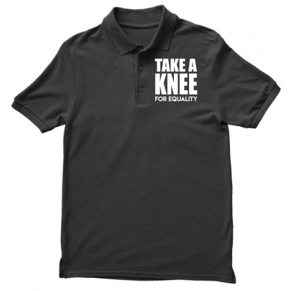 Take A Knee For Equality Men's Polo Shirt Designed By Shadowart