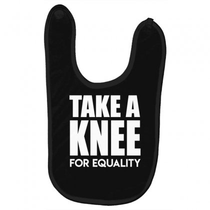 Take A Knee For Equality Baby Bibs Designed By Shadowart