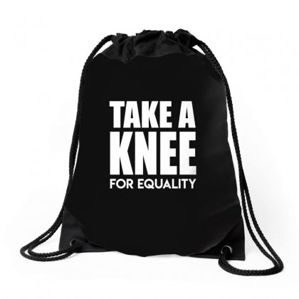 Take A Knee For Equality Drawstring Bags Designed By Shadowart