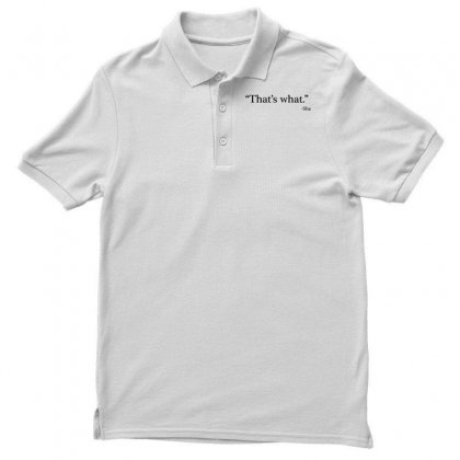 That's What   She 1 Men's Polo Shirt Designed By Artdesigntest