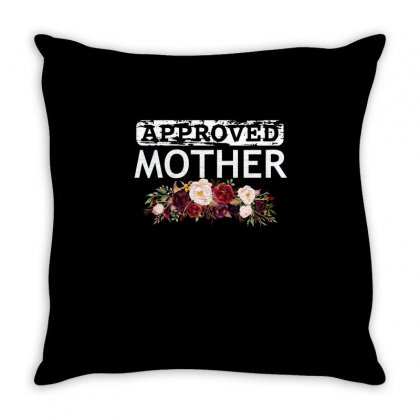 Approved Mother Throw Pillow Designed By Cogentprint