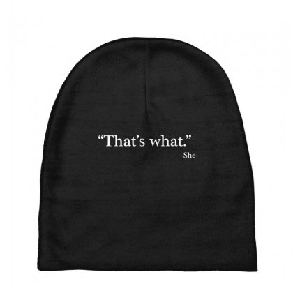 That's What She Baby Beanies Designed By Artdesigntest