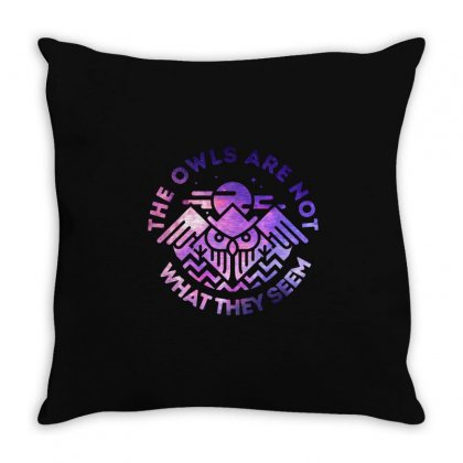 The Owls Are Not What They Seem Throw Pillow Designed By Artdesigntest