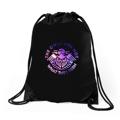 The Owls Are Not What They Seem Drawstring Bags Designed By Artdesigntest