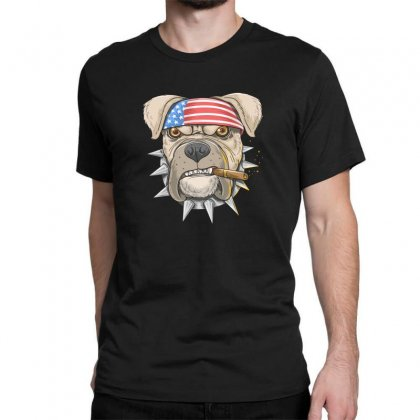 Usa Dog Classic T-shirt Designed By Disgus_thing