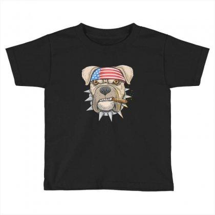 Usa Dog Toddler T-shirt Designed By Disgus_thing