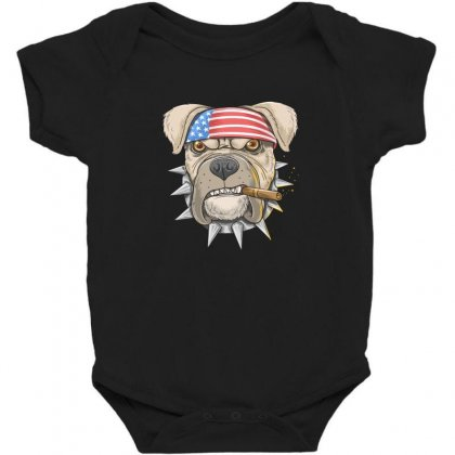 Usa Dog Baby Bodysuit Designed By Disgus_thing