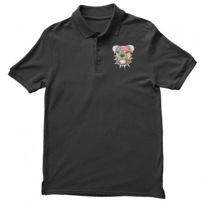 Usa Dog Men's Polo Shirt Designed By Disgus_thing
