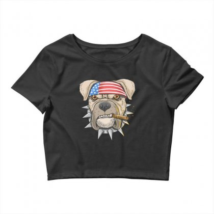 Usa Dog Crop Top Designed By Disgus_thing