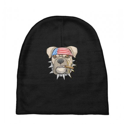 Usa Dog Baby Beanies Designed By Disgus_thing