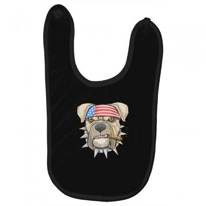 Usa Dog Baby Bibs Designed By Disgus_thing