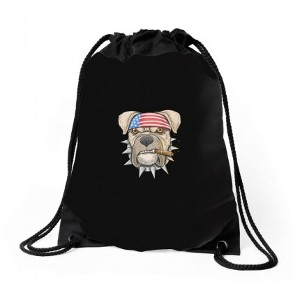 Usa Dog Drawstring Bags Designed By Disgus_thing