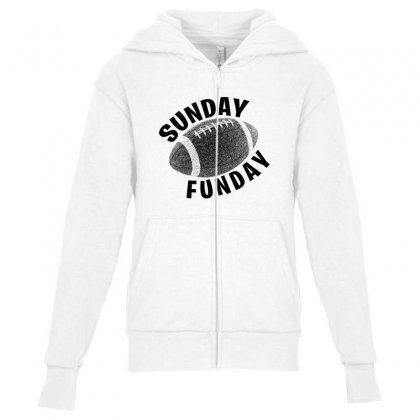 Sunday Funday For Light Youth Zipper Hoodie Designed By Seda