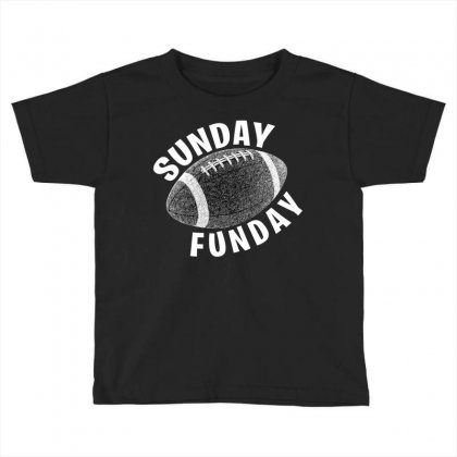 Sunday Funday For Dark Toddler T-shirt Designed By Seda