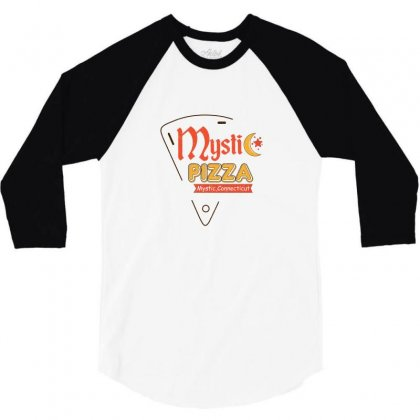Mystic Pizza Mystic Connecticut For Light 3/4 Sleeve Shirt Designed By Hasret