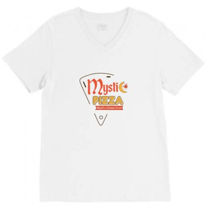 Mystic Pizza Mystic Connecticut For Light V-neck Tee Designed By Hasret