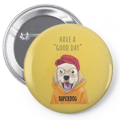 Super Dog Pin-back Button Designed By Disgus_thing
