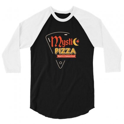 Mystic Pizza Mystic Connecticut For Dark 3/4 Sleeve Shirt Designed By Hasret