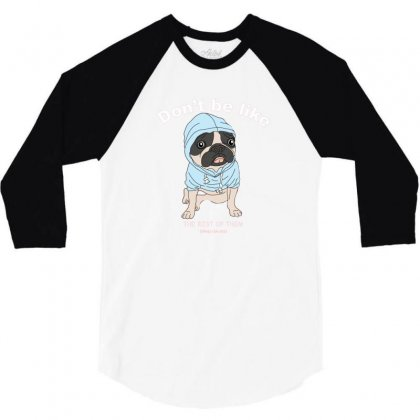 Cute Dog 3/4 Sleeve Shirt Designed By Disgus_thing