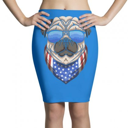 Usa Dog Patriot Pencil Skirts Designed By Disgus_thing