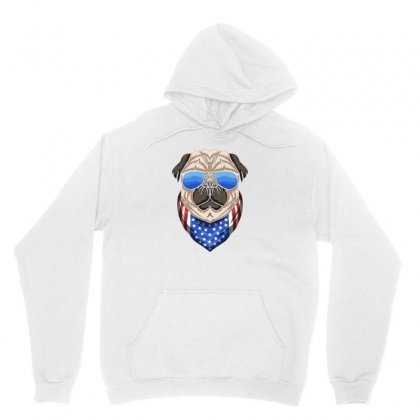 Usa Dog Patriot Unisex Hoodie Designed By Disgus_thing