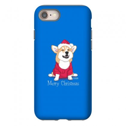 Dog Merry Christmas Iphone 8 Case Designed By Disgus_thing