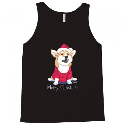 Dog Merry Christmas Tank Top Designed By Disgus_thing