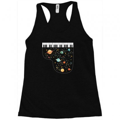 Music In Space For Dark Racerback Tank Designed By Hasret