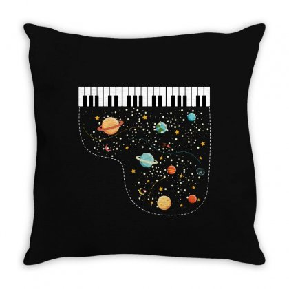 Music In Space For Dark Throw Pillow Designed By Hasret