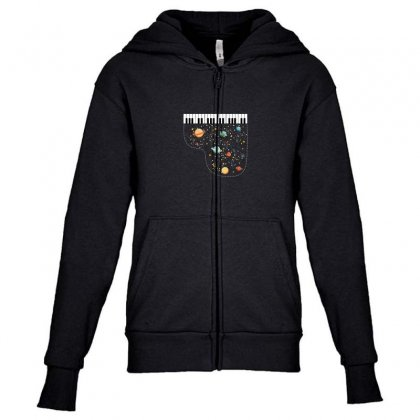 Music In Space For Dark Youth Zipper Hoodie Designed By Hasret