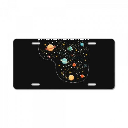 Music In Space For Dark License Plate Designed By Hasret