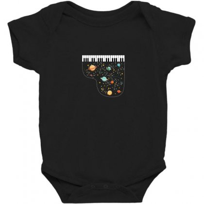 Music In Space For Dark Baby Bodysuit Designed By Hasret