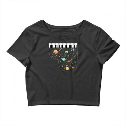 Music In Space For Dark Crop Top Designed By Hasret