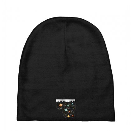 Music In Space For Dark Baby Beanies Designed By Hasret
