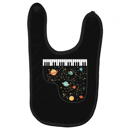 Music In Space For Dark Baby Bibs Designed By Hasret